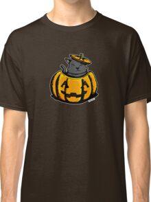 Cute Pumpkin Cat Halloween Classic T-Shirt