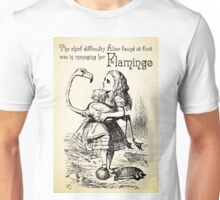 Alice in Wonderland Quote - Flamingo - Mad Hatter Quote - 0120 Unisex T-Shirt