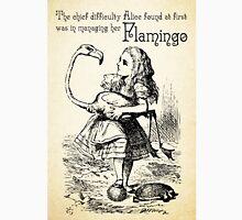 Alice in Wonderland Quote - Flamingo - Mad Hatter Quote - 0120 Unisex T-Shirt
