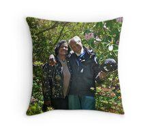 The Mussingtons - Kinney's Azalea Garden - Portrait - Kingston, Rhode Island Throw Pillow
