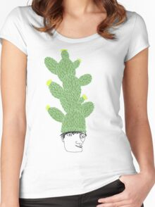 Cactus Hat Hipster Street Wear Women's Fitted Scoop T-Shirt