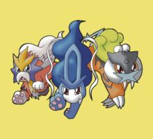 Crowne Beasts- Shiny Entei, Raikou, Suicune Kids Clothes