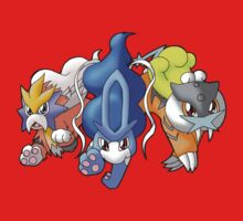 Crowne Beasts- Shiny Entei, Raikou, Suicune One Piece - Short Sleeve