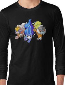 Crowne Beasts- Shiny Entei, Raikou, Suicune Long Sleeve T-Shirt