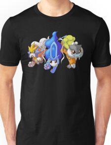 Crowne Beasts- Shiny Entei, Raikou, Suicune Unisex T-Shirt
