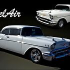 1957 Chevrolet White BelAir by TeeMack