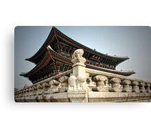 South Korea-palace stonework carving Canvas Print