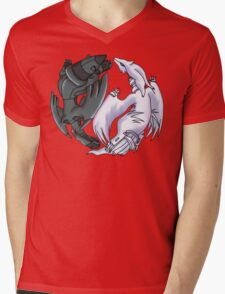 Pokemon YinYang- Reshiram and Zekrom Mens V-Neck T-Shirt