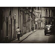 Siena street scene telephoto Photographic Print