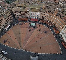 Campo in heart of Siena - the origin of Burnt Siena. by Tom Davidson