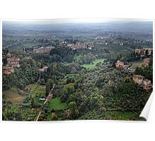 Tuscan countryside outside Siena Poster