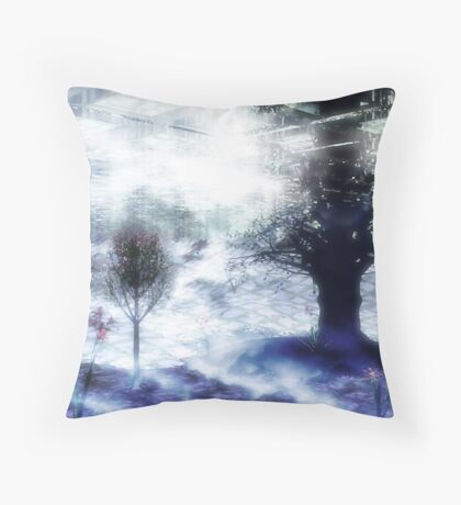 Below Throw Pillow