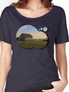 Traditional storage in autumn scenery | architectural photography Women's Relaxed Fit T-Shirt