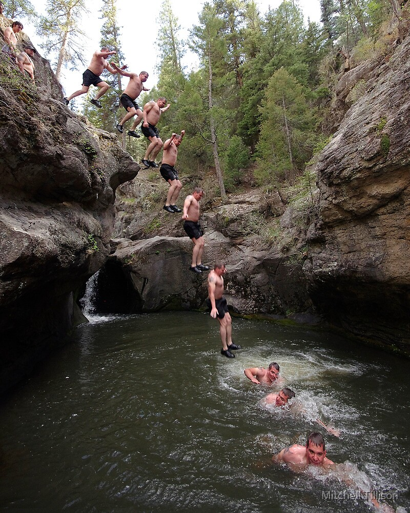 Cliff Jumping in the Jemez by Mitchell Tillison