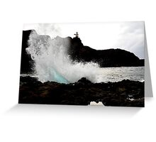 Land and sea Greeting Card