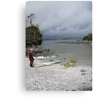 Rest stop before the approaching storm, Pacific Rim National Park Canvas Print