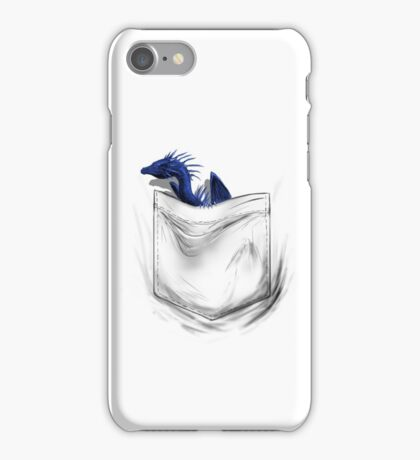 Little Dragon In My Pocket 1 - Blue iPhone Case/Skin