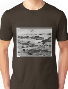 Landing Craft in Normandy France on D-Day June 6 1944 Unisex T-Shirt