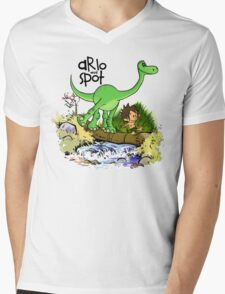 Arlo and Spot  Mens V-Neck T-Shirt