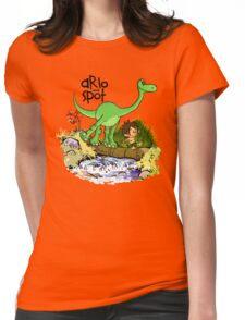 Arlo and Spot  Womens Fitted T-Shirt