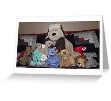 Collection of stuffed animals Greeting Card