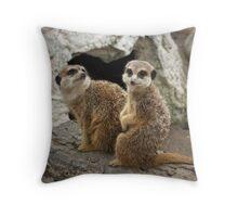 harmonious duet Throw Pillow