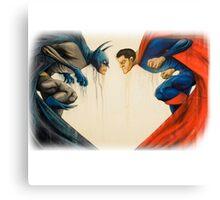 batman and superman Canvas Print