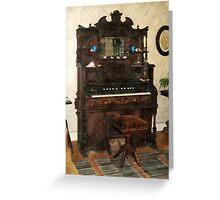 Large Organ in Parlor Greeting Card