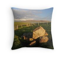 Landscape on Papa Stour, Shetland Islands. Throw Pillow