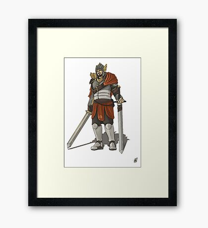 James The Swordsmen Framed Print