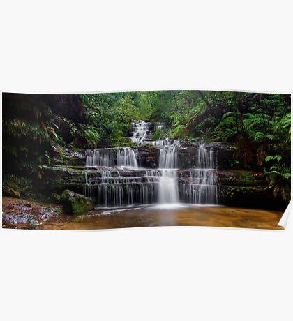 Flowing Terrace Falls Poster