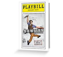 Colored Newsies Playbill Greeting Card