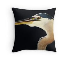 Great Blue Heron at Night Throw Pillow