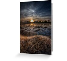 Sunset and Straw Greeting Card