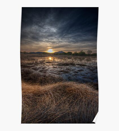 Sunset and Straw Poster