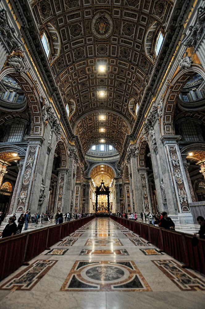 St. Peter's Basilica1 vertical by Tom Davidson