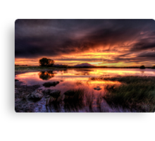 Saturated Sunset Canvas Print