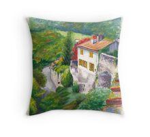 Saint Bertrand Mur (Wall) Throw Pillow
