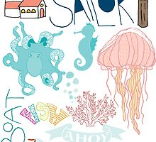 Nautical Doodles by DoucetteDesigns