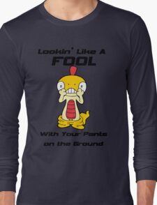 Pokemon- Scraggy- Pants on the Ground Long Sleeve T-Shirt
