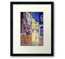 Reflections Of Venice Italy Framed Print