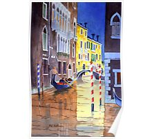 Reflections Of Venice Italy Poster