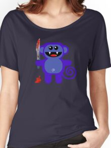 MUNKEY 2 (Cute pet with a sharp knife!) Women's Relaxed Fit T-Shirt
