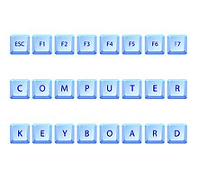 Computer keyboard Photographic Print