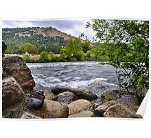 American River at Coloma, CA Poster