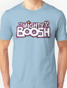 The Mighty Boosh – Dripping Pink Writing & Mask T-Shirt