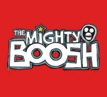 The Mighty Boosh – Dripping Blue Writing & Mask Baby Tee
