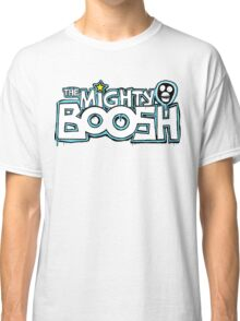 The Mighty Boosh – Dripping Blue Writing & Mask Classic T-Shirt