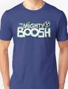 The Mighty Boosh – Dripping Blue Writing & Mask T-Shirt