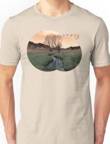 A stream, dry grass, reflections and trees II | waterscape photography Unisex T-Shirt
